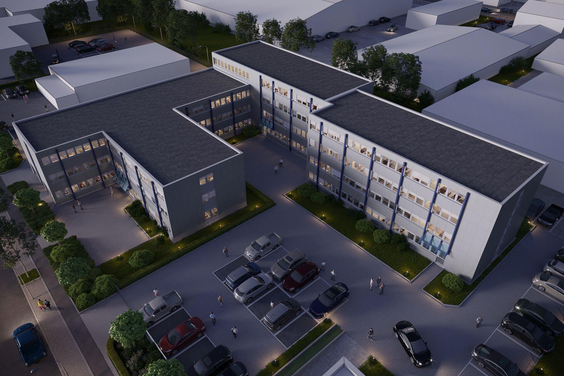 Bürogebäude 3D Visualisierung