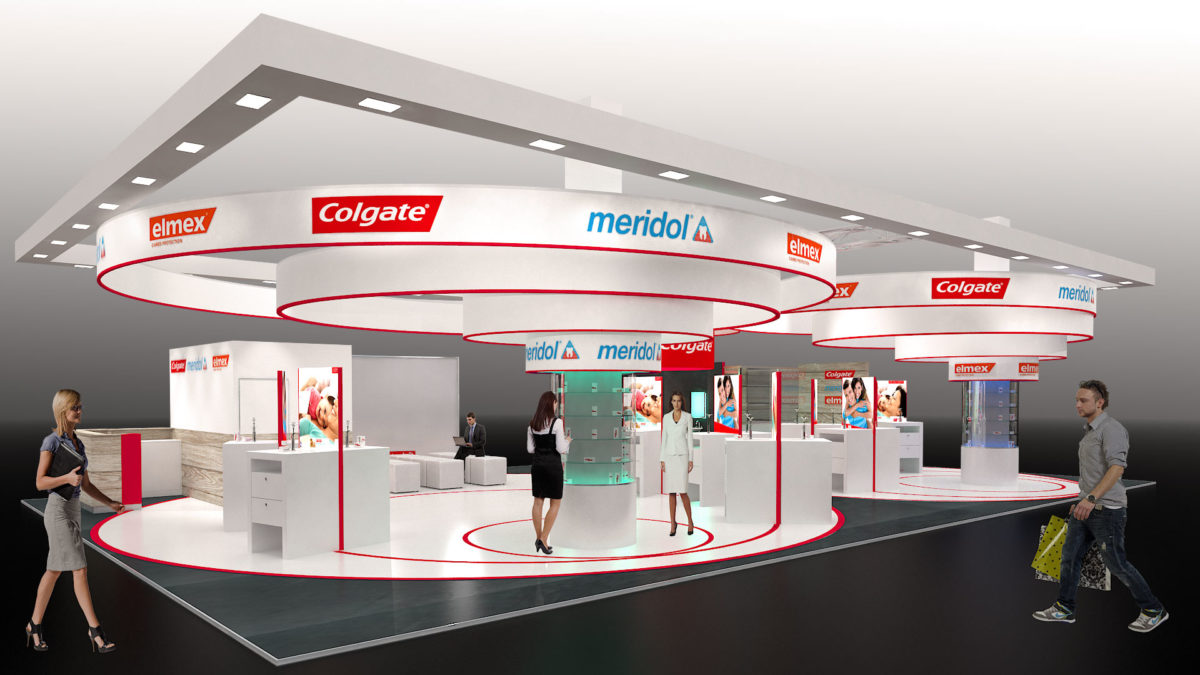 colgate messestand