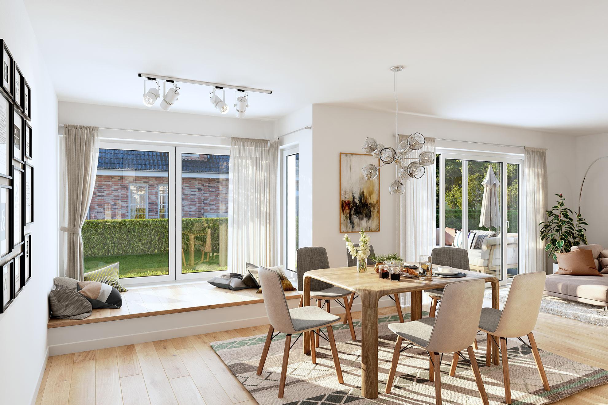 Wohnzimmer 3D Architekturvisualisierung