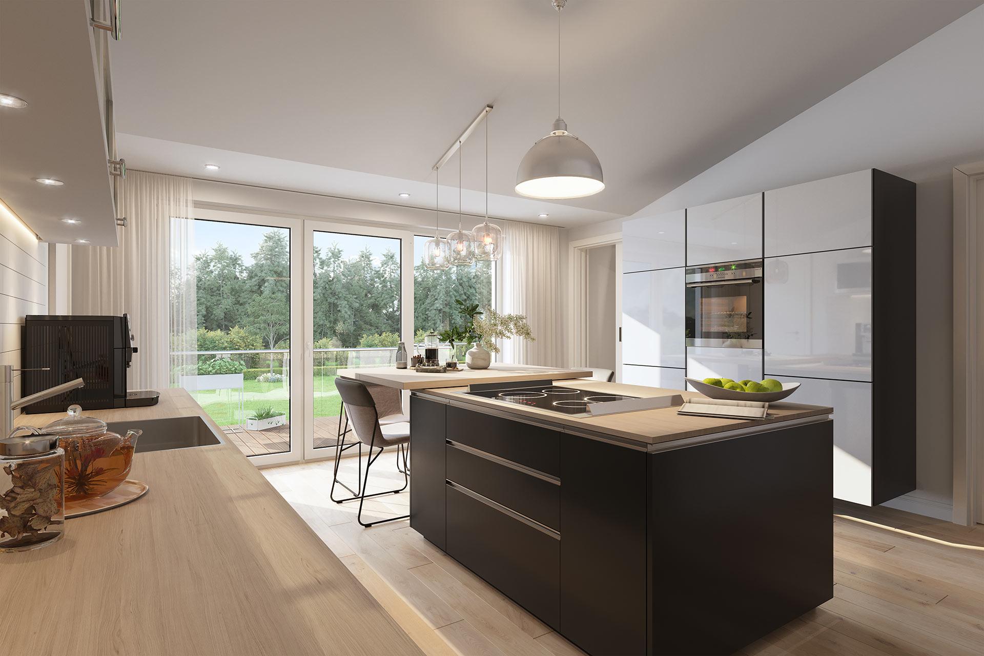 Modernes Visualisierung Küche Architekturvisualisierung