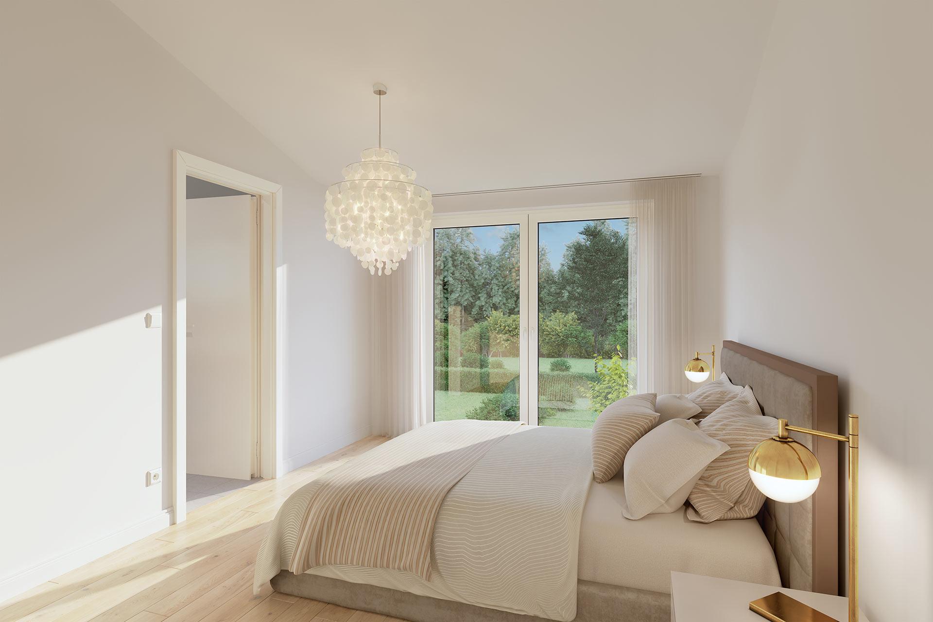 Modernes Visualisierung Schlafzimmer Architekturvisualisierung