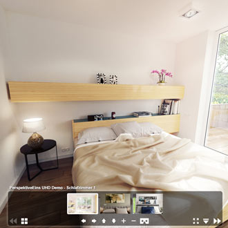 360° Panorama Schlafzimmer